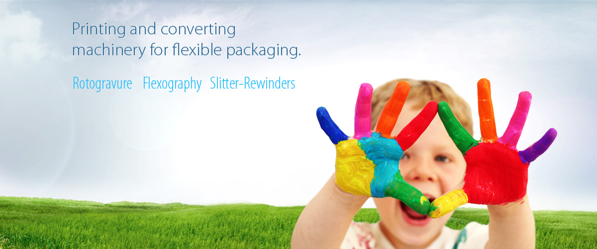 Printing and converting machinery for flexible packaging